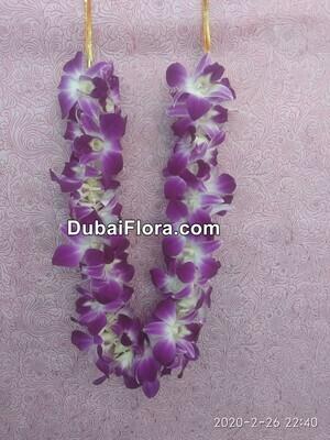 Purple Orchids Garland