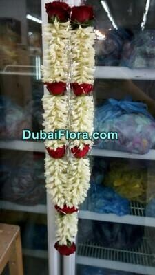 Tuberose and Roses Garland (Haar)