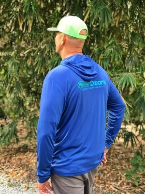 Hooded Shirt- Blue- Large
