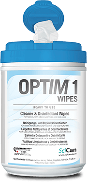 OPTIM 1 Surface Cleaner & Disinfectant Wipes, 15 x 18 cm (12 cans x 160 sheets/case)