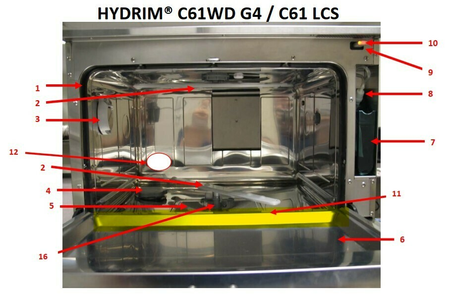 HYDRIM C61 door seal (bottom)