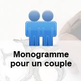 Création d'un monogramme pour un couple