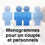 Création d'un monogramme pour un couple et création des deux monogrammes personnels