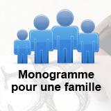 Création d'un monogramme pour une famille