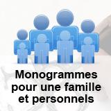 Création d'un monogramme pour une famille et création des monogrammes personnels