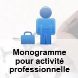 Création d'un monogramme pour activité professionnelle