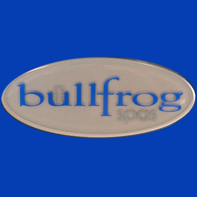 60-1225, Label, Spa Medallion, BULLFROG, Domed, 2011-Present