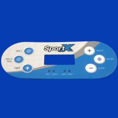 65-1850, Control, Overlay, Pad, SportX 1+2 Pump, 2009-2010