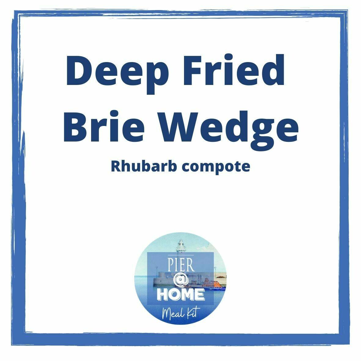 Brie Wedge & Rhubarb Compote