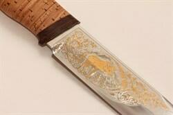 Нож Таежный-2 (позолота, береста)
