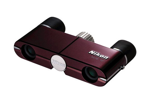 Бинокль Nikon 4x10 DCF, бургунди