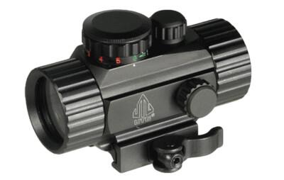 Коллиматор Leapers UTTG Compact 1x30, Circle-dot 4MOA,подсв R/G,закрытый,быстросъемный