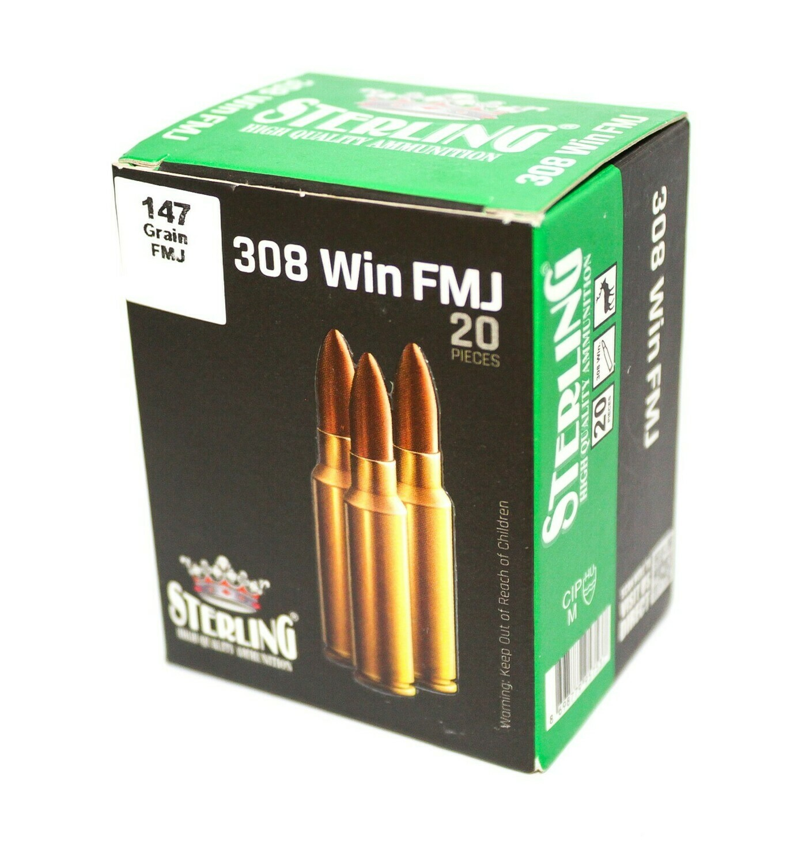 308 Win  Sterling FMJ 9,52гр об