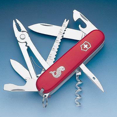 Нож Victorinox Angler, 91 мм, 19 функций, красный 1.3653.72