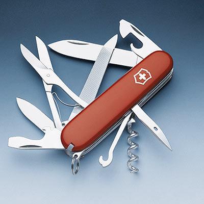 Нож Victorinox Mountaineer, 91 мм, красный 1.3743