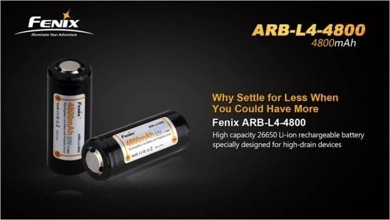Аккумулятор Li-ion Fenix ARB-L4 (26650) 4800 mAh