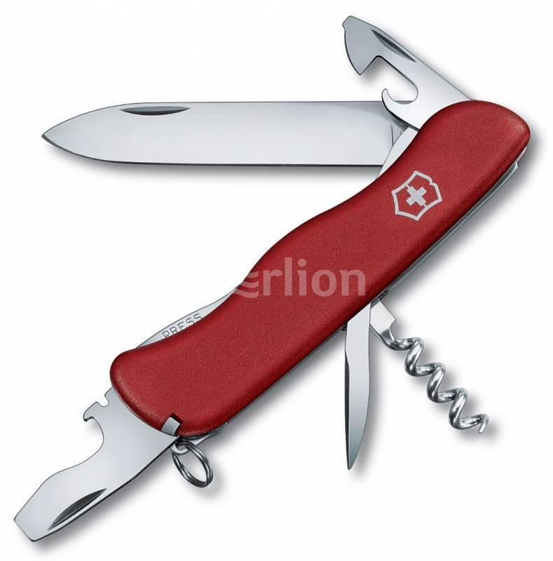 Нож Victorinox Picknicker, 111 мм, 11 функций, с фиксатором лезвия, красный 0.8353