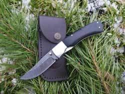 Нож складной Соболь дамаск