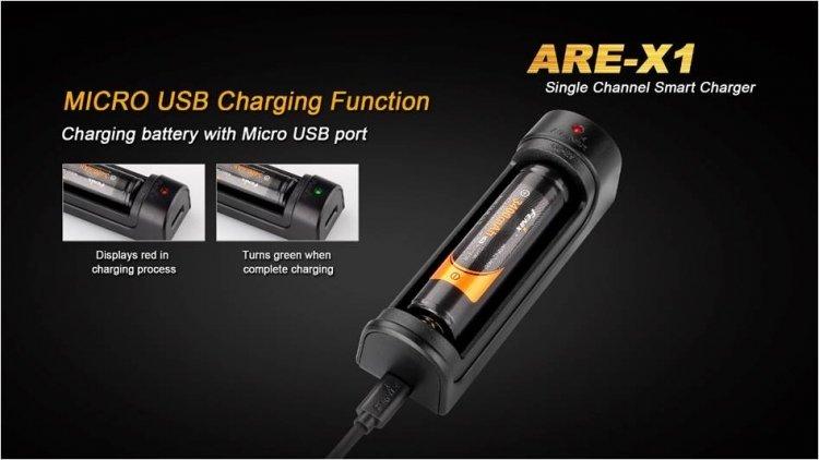 Зарядное устройство Fenix ARE-X1 (18650/26650)