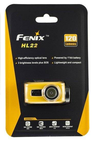 Fenix HL22 ЖЕЛТЫЙ (XP-E R4, ANSI 120 лм, 1хАА)