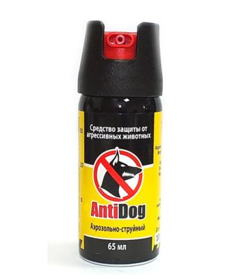 "Газ. баллончик ""ANTIDOG Black"" 65мл."