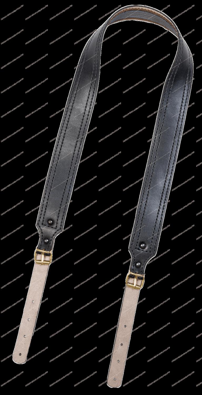 Ремень погонный с противоскользящей стропой  40/ кожа /  Хольстер