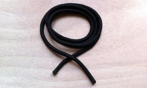 Seil für Trageschlaufen, 6 mm, schwarz