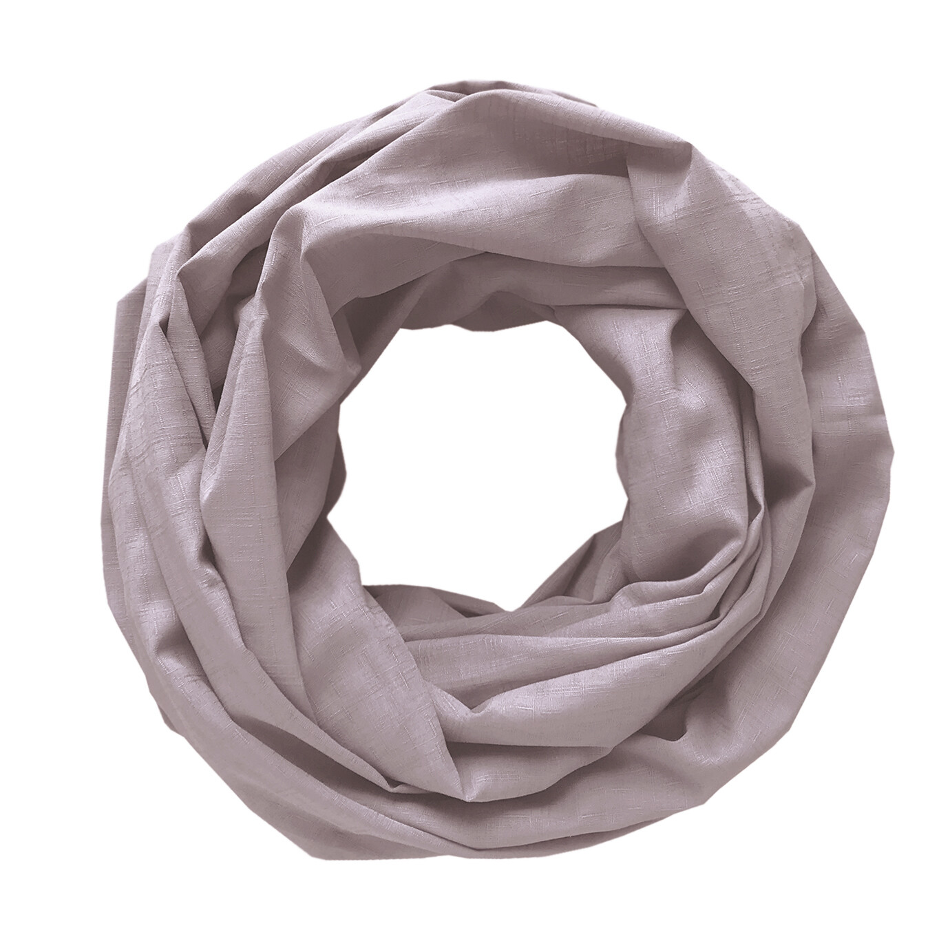 Легкий шарф-снуд пудровый
