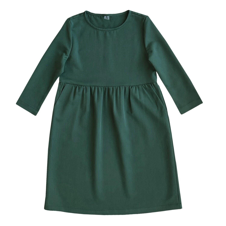 Платье взрослое зеленое