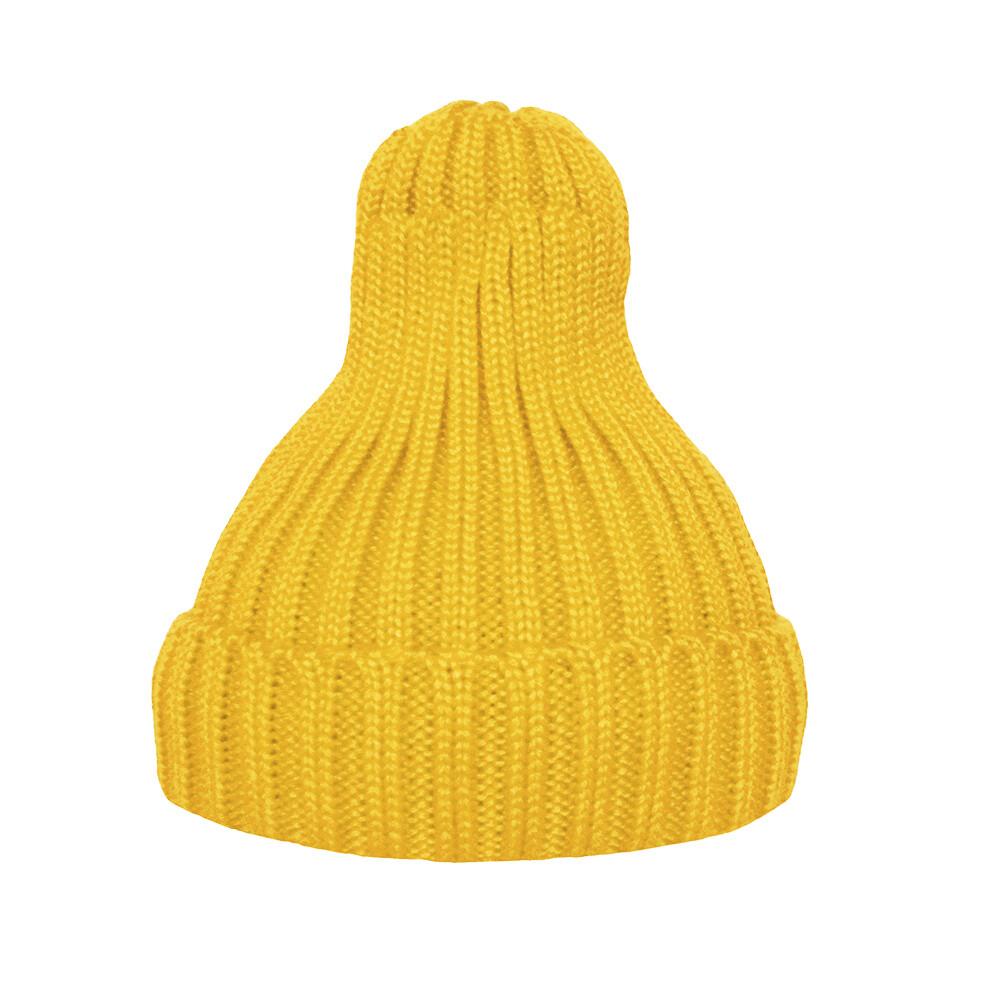 Шапка утеплённая желтая