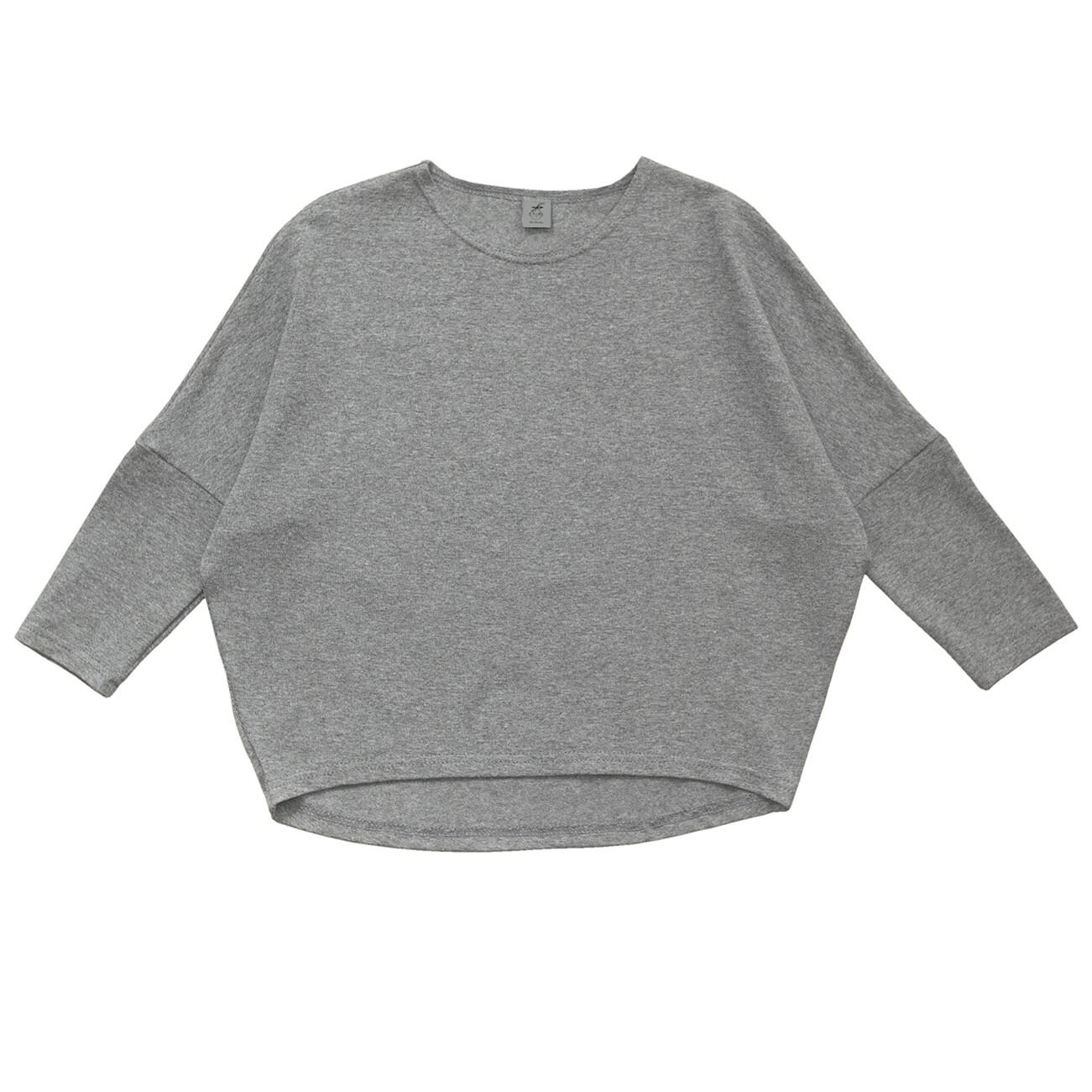 Взрослый лонгслив серый