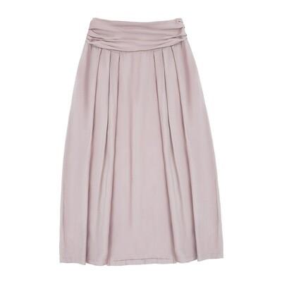 Взрослая вискозная юбка нежно-пудровая