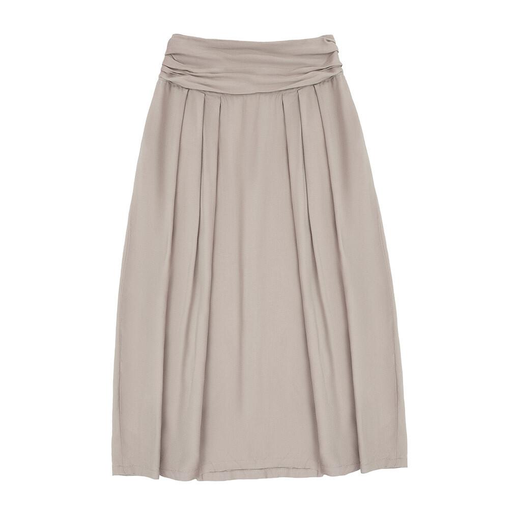 Взрослая вискозная юбка бежевая
