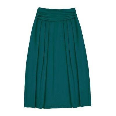 Взрослая вискозная юбка изумрудная