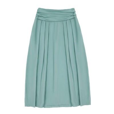Взрослая вискозная юбка цвет морской волны пастельный