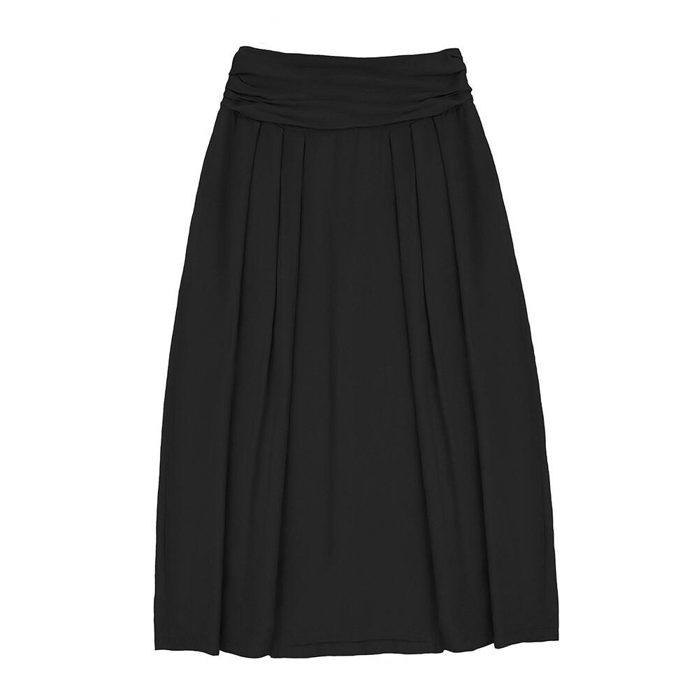 Взрослая вискозная юбка черная