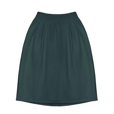 Взрослая юбка тёмно-зеленая (2020)