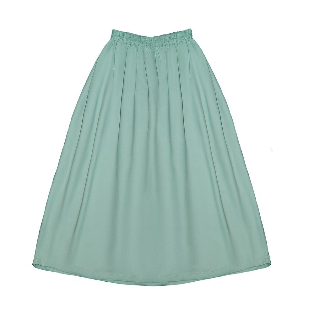 Подростковая вискозная юбка цвет морской волны пастельный