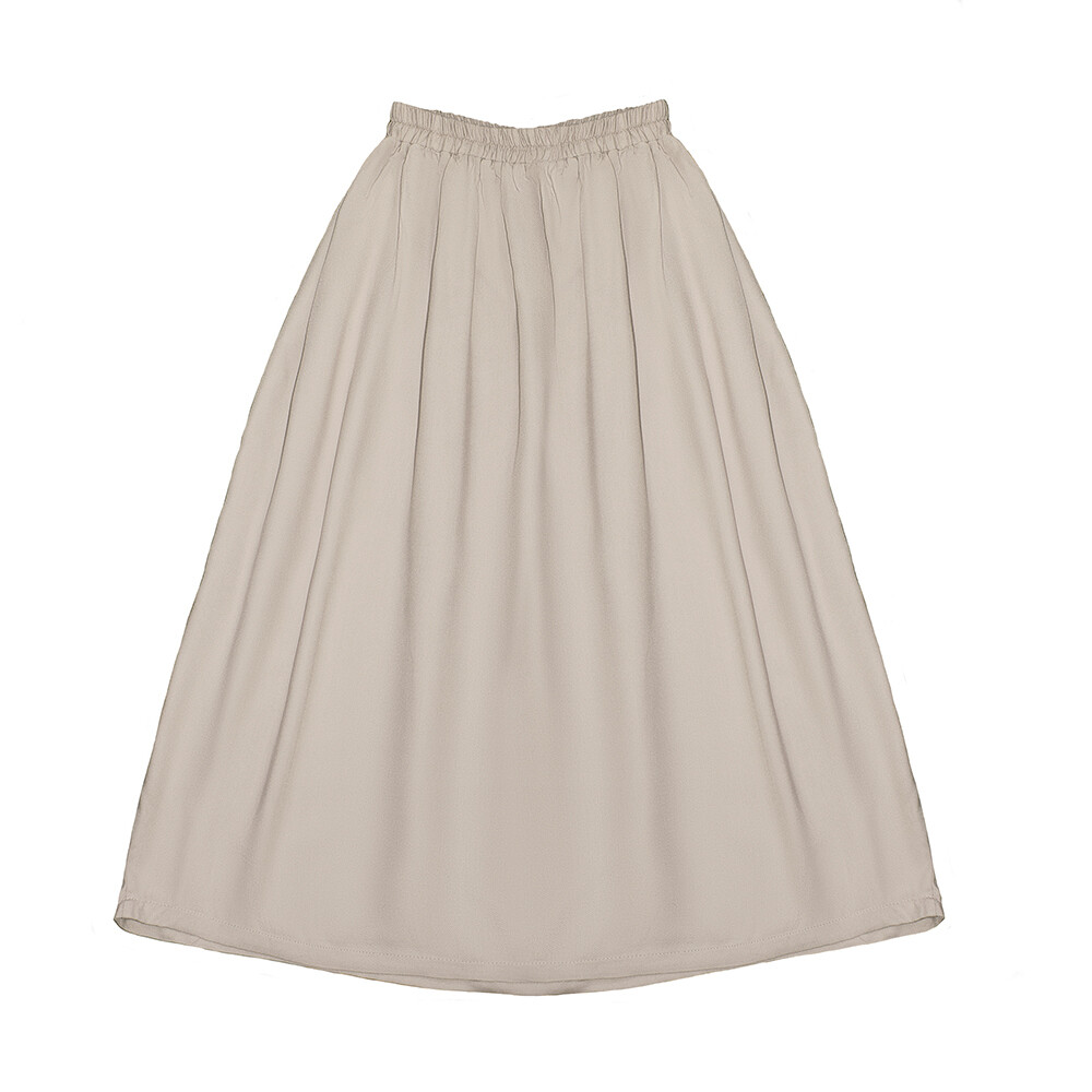 Подростковая вискозная юбка бежевая