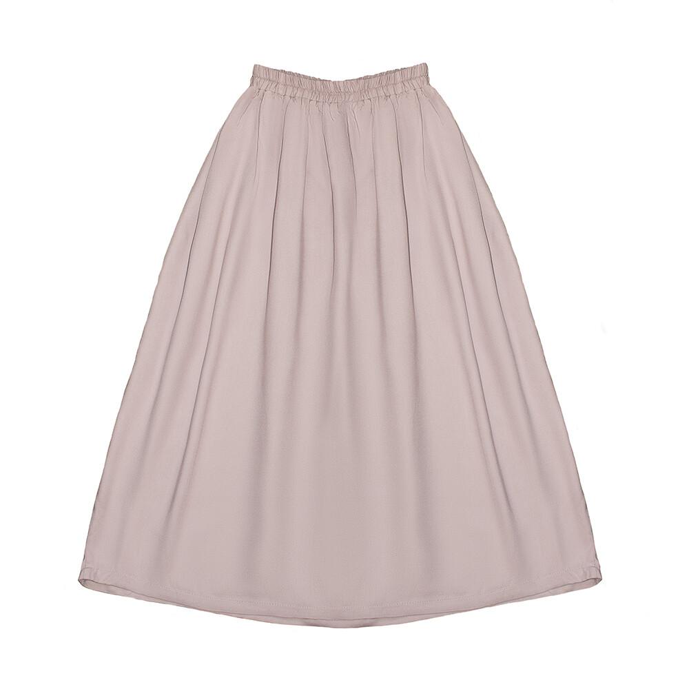 Подростковая вискозная юбка нежно-пудровая