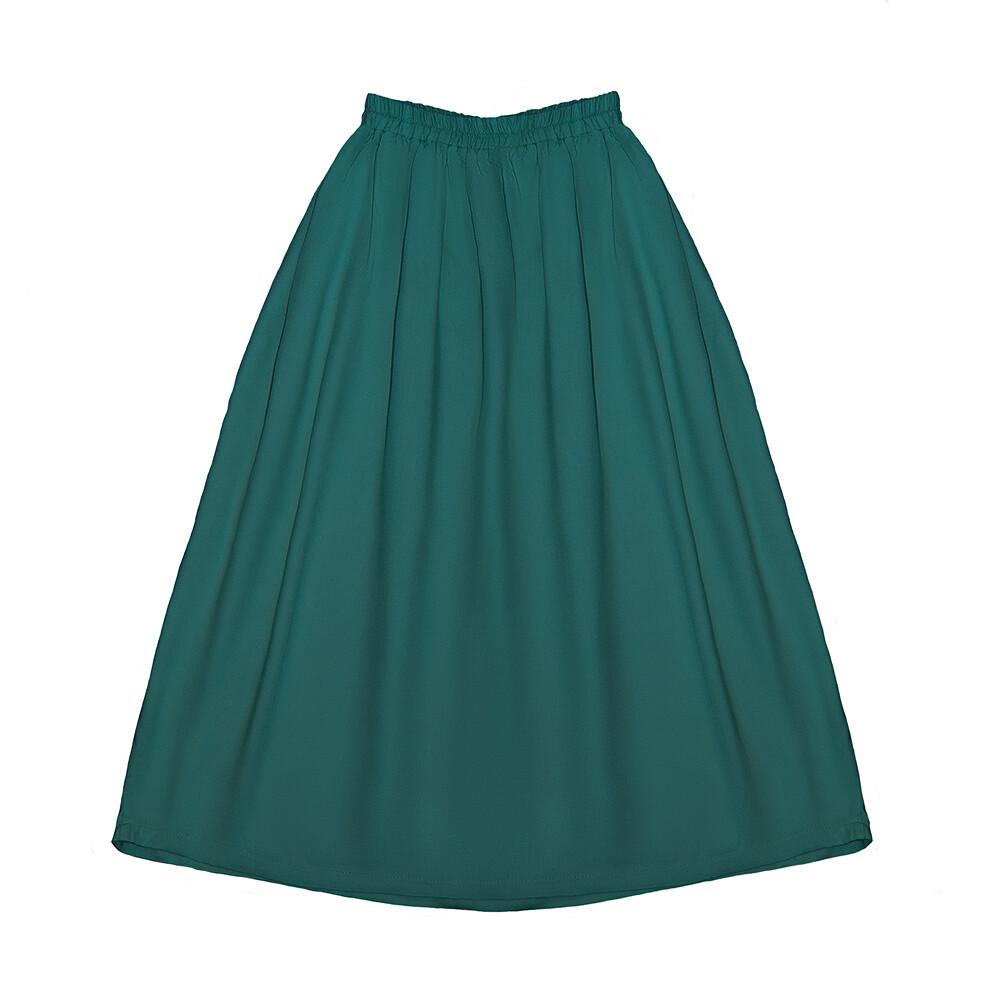 Подростковая юбка изумрудная (весна-лето 2020)