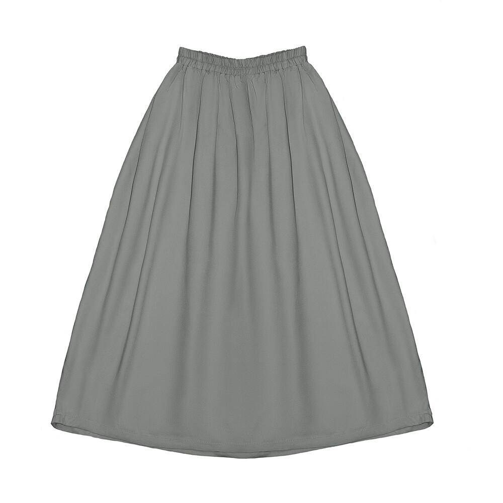 Подростковая вискозная юбка серая