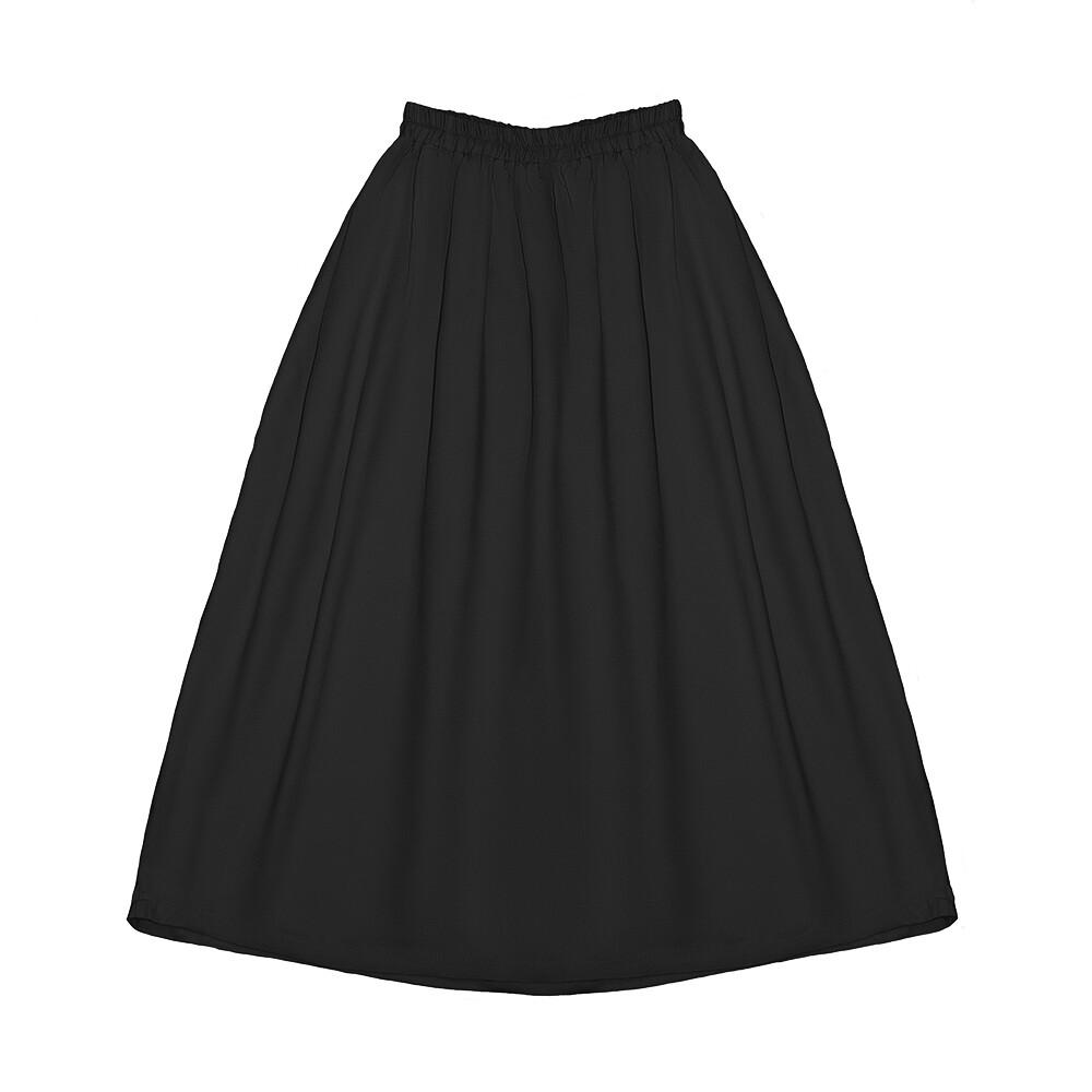 Подростковая вискозная юбка черная