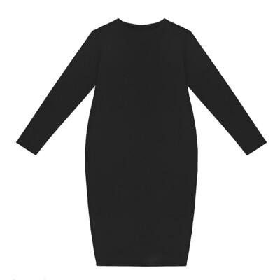 Взрослое трикотажное платье черное