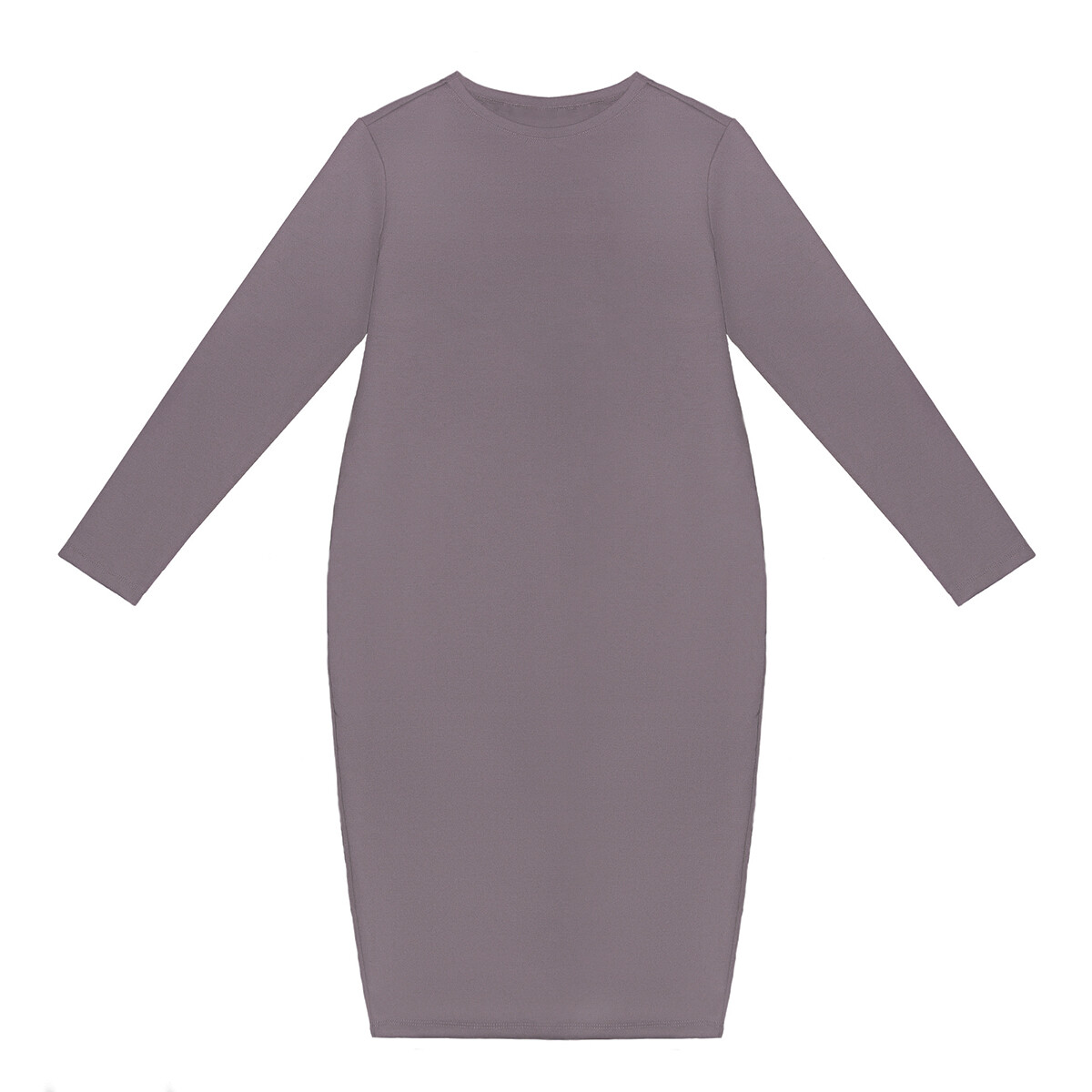 Взрослое трикотажное платье приглушенно-сиреневое