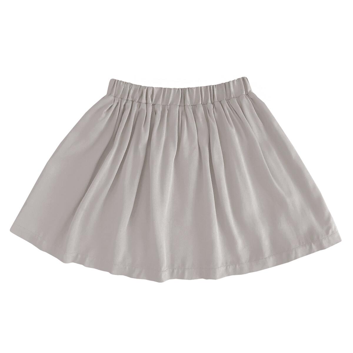 Детская вискозная юбка пюсовая(серо-бежево-розовый цвет)