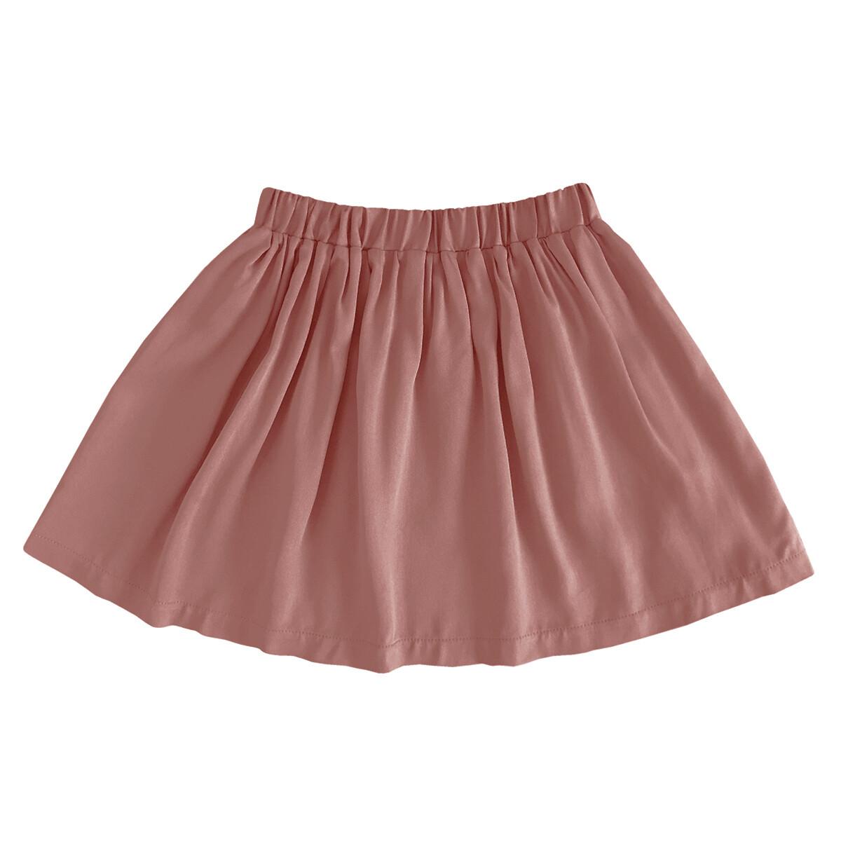 Детская вискозная юбка коралловая