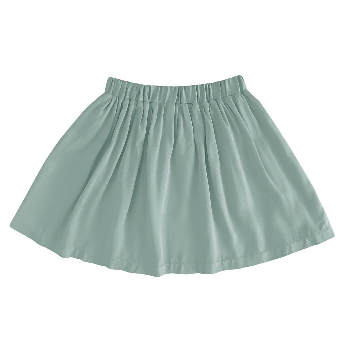Детская вискозная юбка мятная