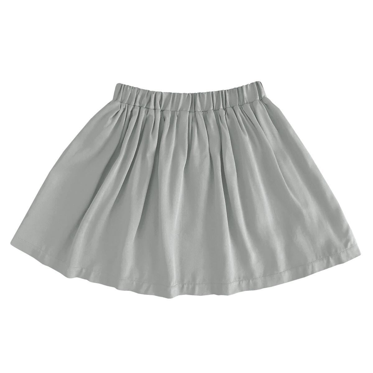 Детская вискозная юбка серая