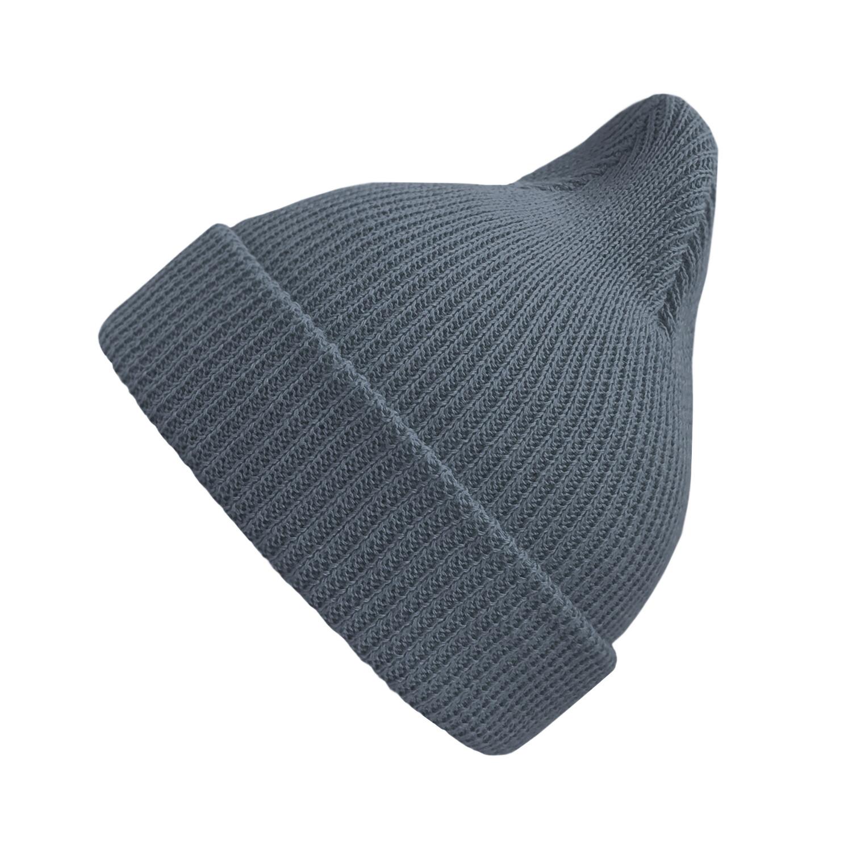 Хлопковая шапка ko-ko-ko сине-серая (*baby size)